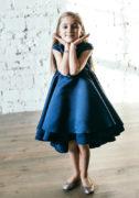 платье на девочку синего цвета