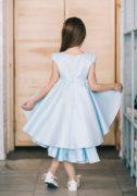 Світло-блакитна атласна сукня на дівчинку