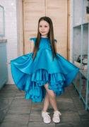 Синее нарядное платье девочке на праздник - интернет магазин нарядных платьев malyna.ua