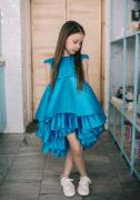 Синее нарядное платье на девочку 7 лет