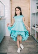 Бирюзовое платье на девочку - на праздник на сайте нарядных платьев для девочек malyna.ua