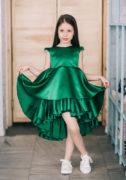 Зеленое платье на девочку - на праздник на сайте нарядных платьев для девочек malyna.ua
