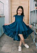 Джинсовое нарядное платье на девочку