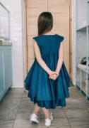 Темно синее нарядное платье на девочку