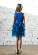 Синя сукня з фатином на дівчинку