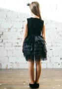 чорна сукня з фатином на дівчинку