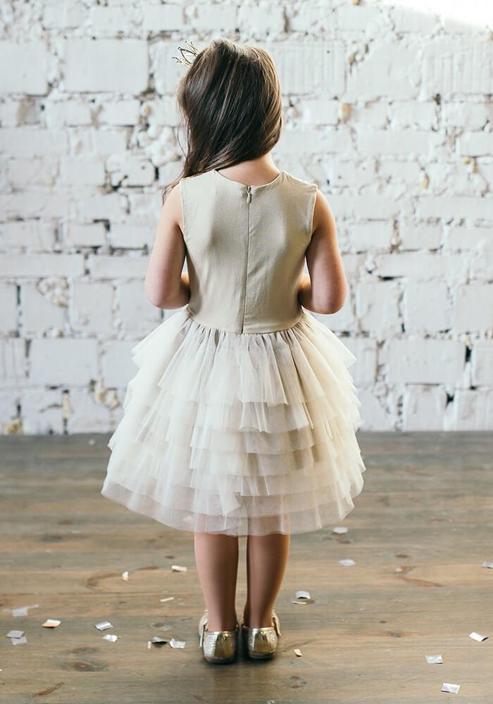 платье с фатиновой юбочкой на девочку