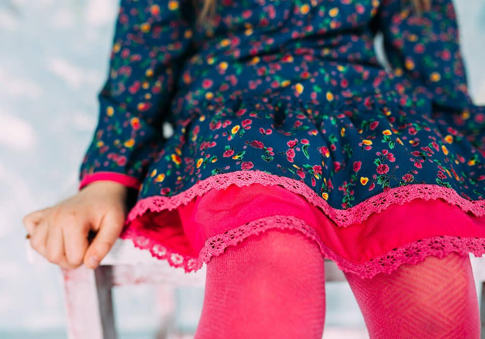 сукня з рожевим кружевом для дівчаток