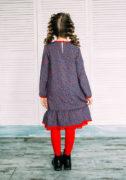 Синьо-червона сукня на дівчинку