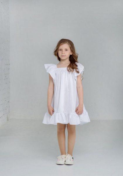 Літні білі сукні для дівчаток з котону - колекція літніх суконь для дівчаток в інтернет магазині дитячих платтячок malyna.ua