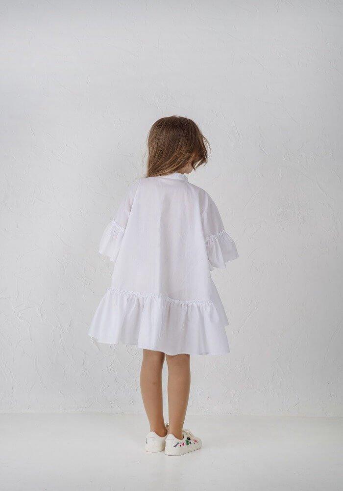 ... Біле платтячко з котону на дівчинку - літні платтячка в інтернет  магазині malyna.ua 476da07bbf158