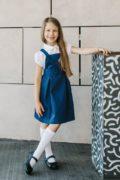 Шкільний синій сарафан на дівчинку 8 років
