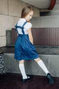 Сарафан для школи на дівчинку синього кольору