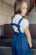 Сарафан для школи на дівчинку синій