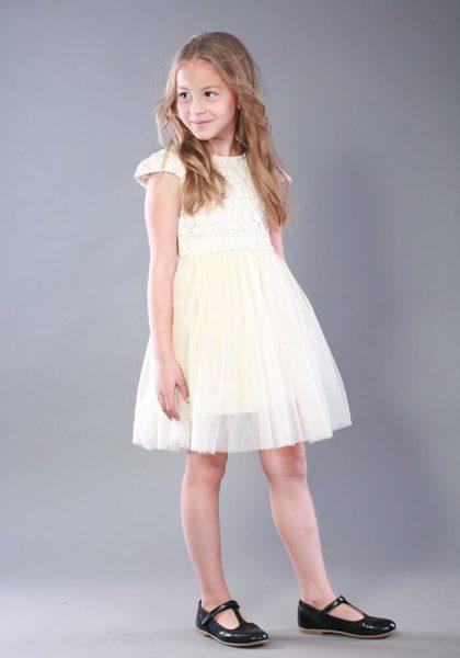 Светлое платье девочке - выбрать на сайте интернет магазина детских платьев Malyna