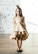 Золотистое платье на девочку - интернет магазин