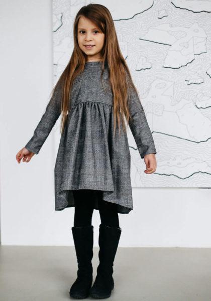 Теплые платья на девочек