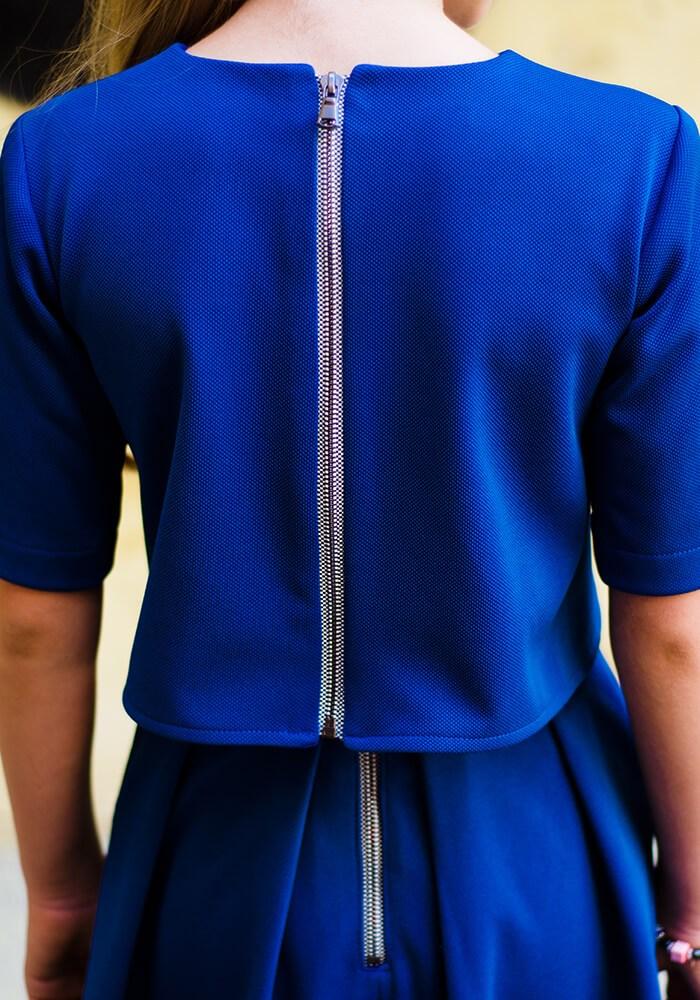 Синій костюмчик на дівчинку