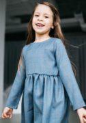 Сіре осіннє плаття на дівчинку