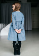 сіра тепла сукня дівчинці - інтернет магазин дитячих суконь Malyna