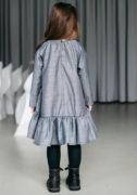 Серое платье на девочку