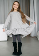 Чарівна сіра сукня на дівчинку - сайт Malyna