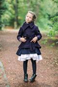 Осеннее весеннее платье на девочку синего цвета