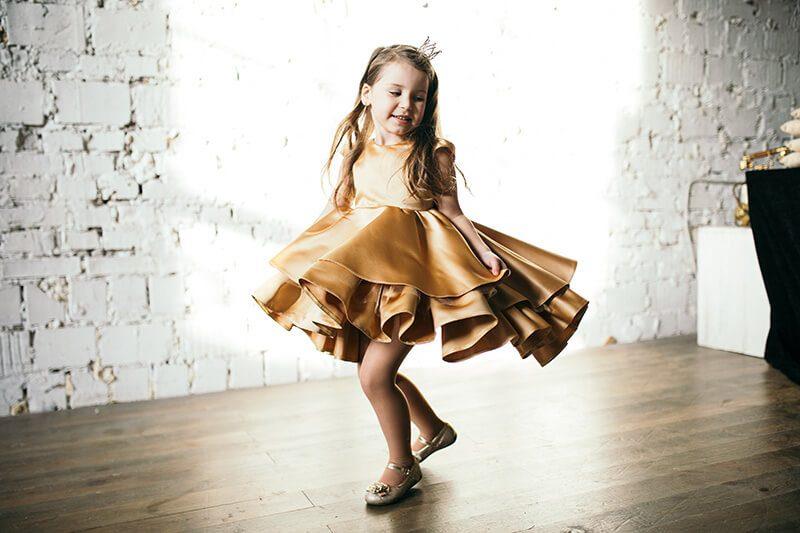 Золотисте плаття для принцеси
