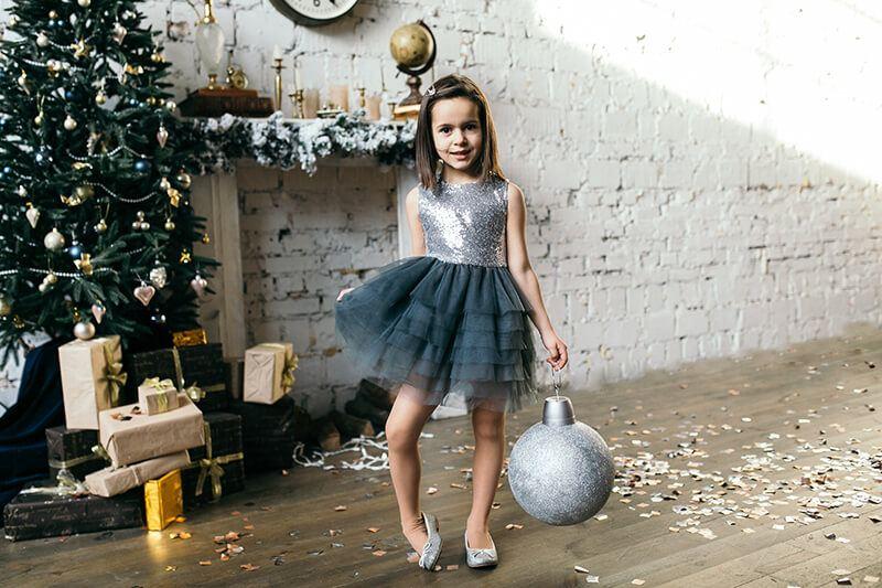 сіра сукня з фатином на дівчинку - інтернет магазин суконь Malyna