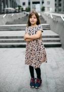 Красивое платье на девочку в цветочки