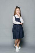 Красива шкільна форма - синій сарафан - інтернет магазин шкільного одягу для дівчаток malyna.ua