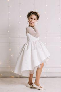 Белое праздничное платье на девочку