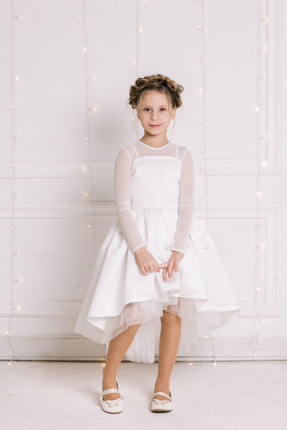 ... Ніжна біла святкова сукня на дівчинку  Біле плаття для дівчинки нарядне  ... 102776d40e36c