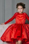 Красивое красное платье на девочку