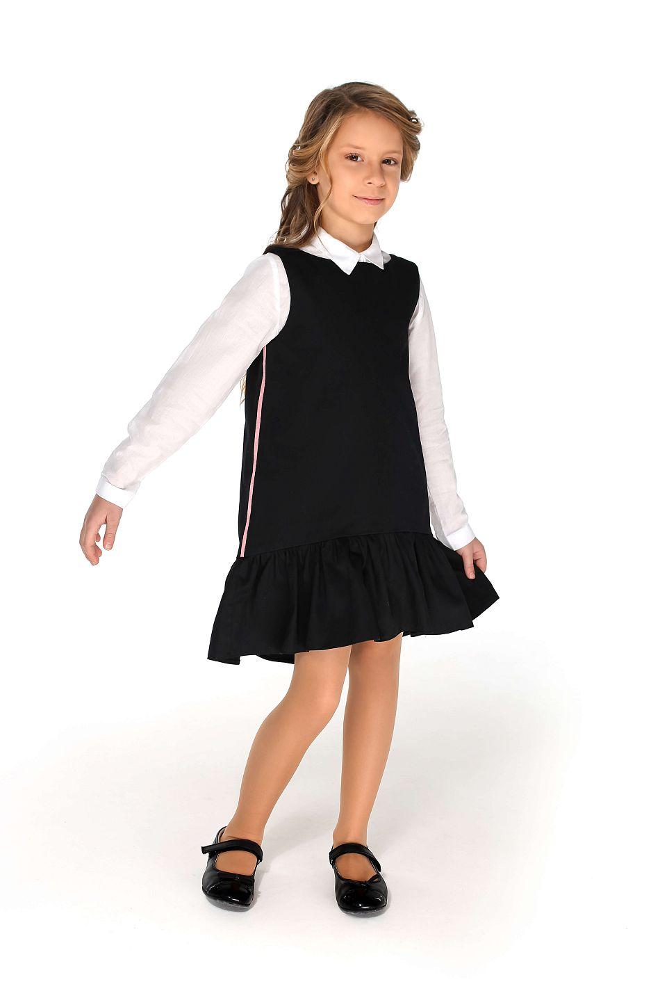 красивый сарафан девочке в школу чорний