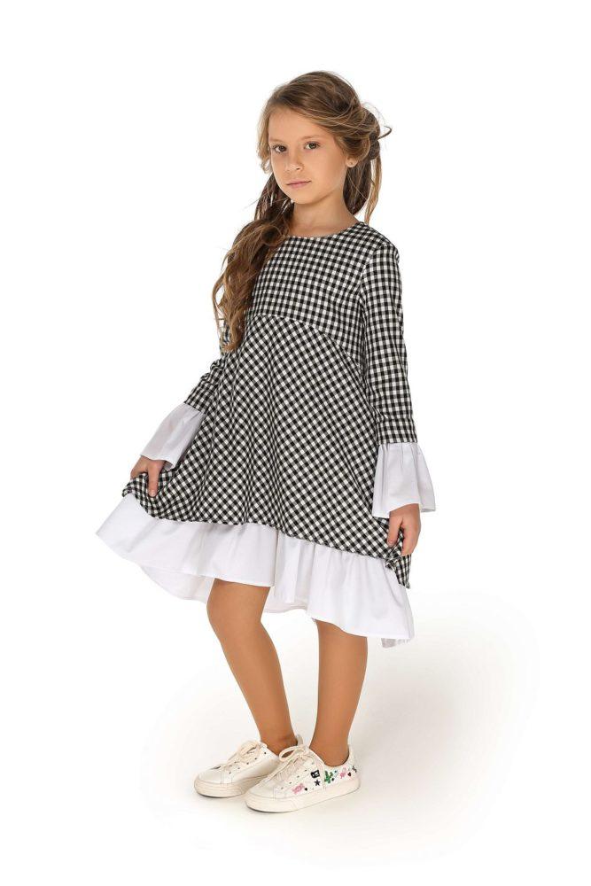 Плаття в клітинку на дівчинку до 12 років