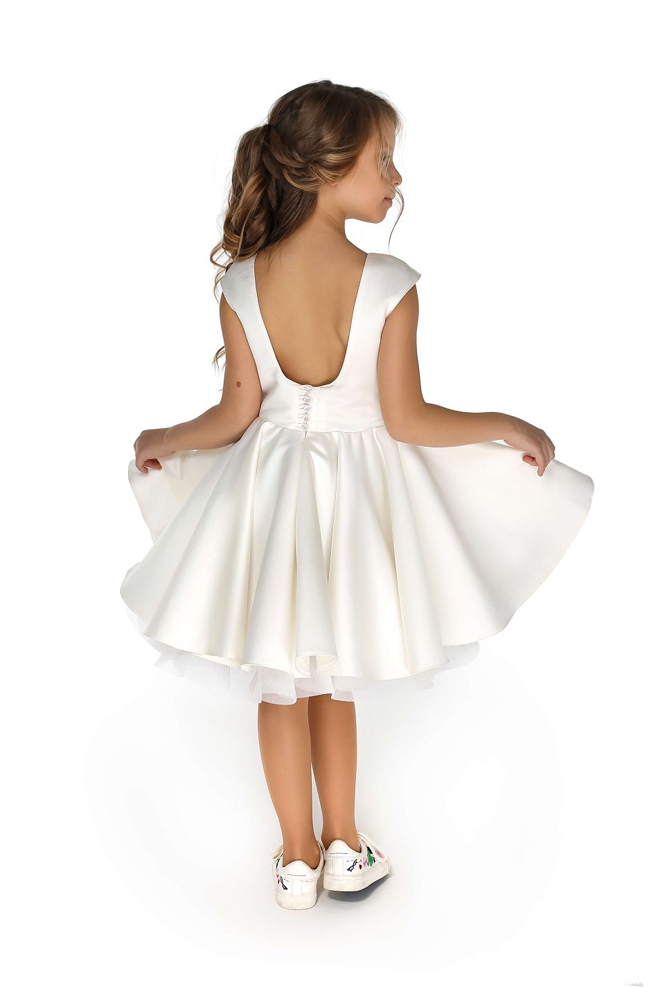 купить нарядное белое платье на девочку