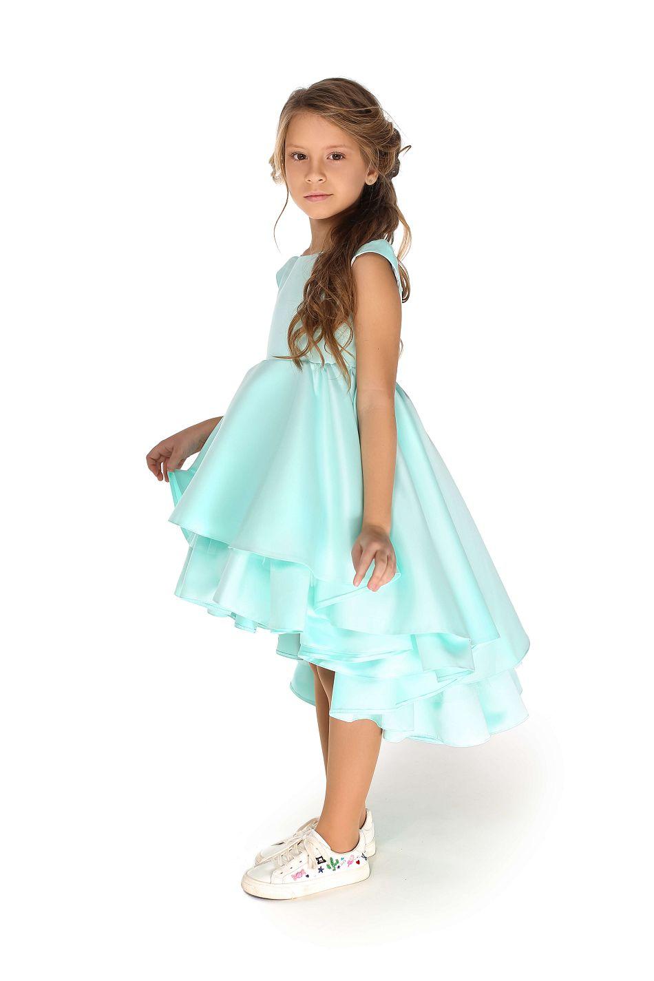 Нарядное платье на девочку мятного цвета
