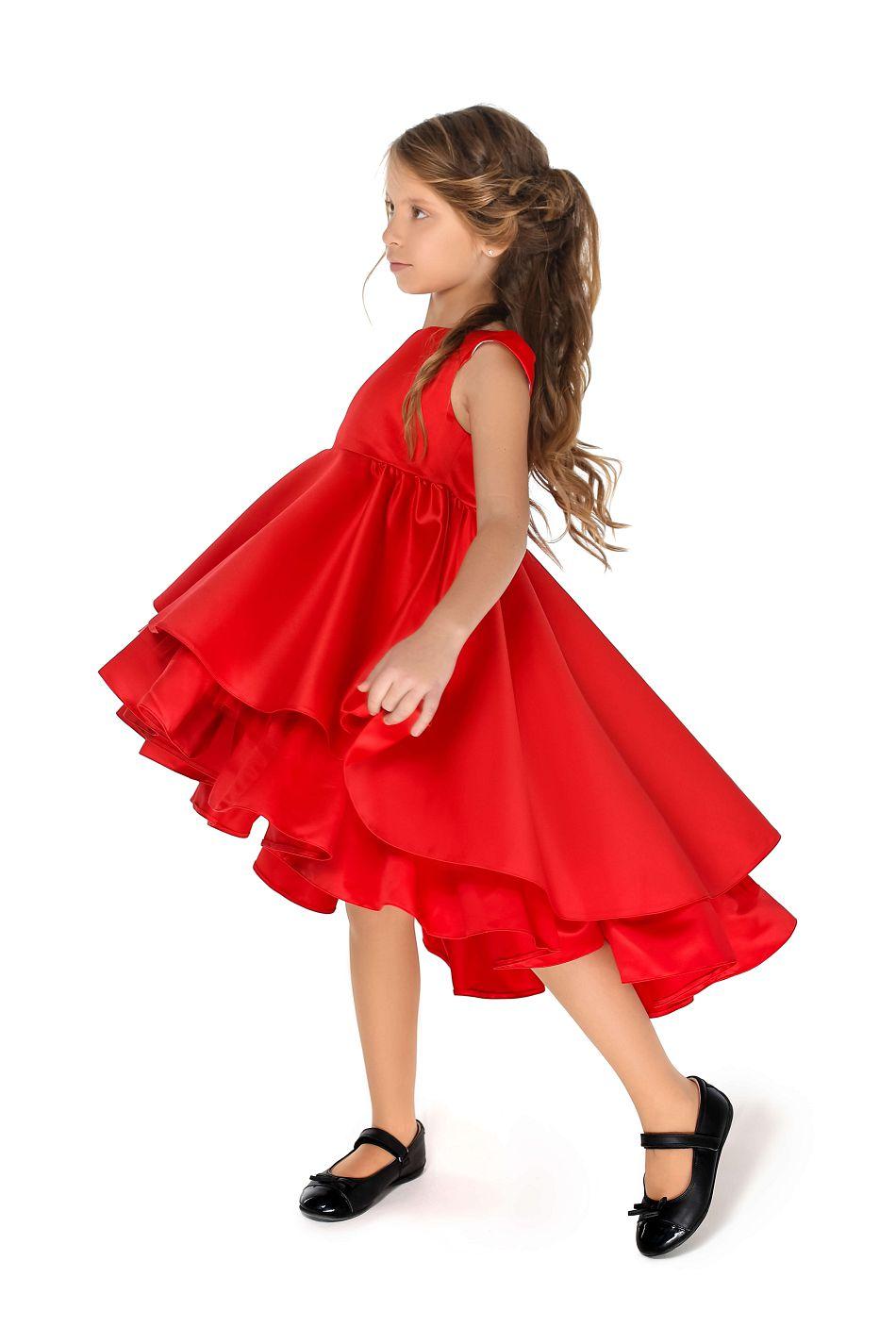Красное нарядное платье на девочку