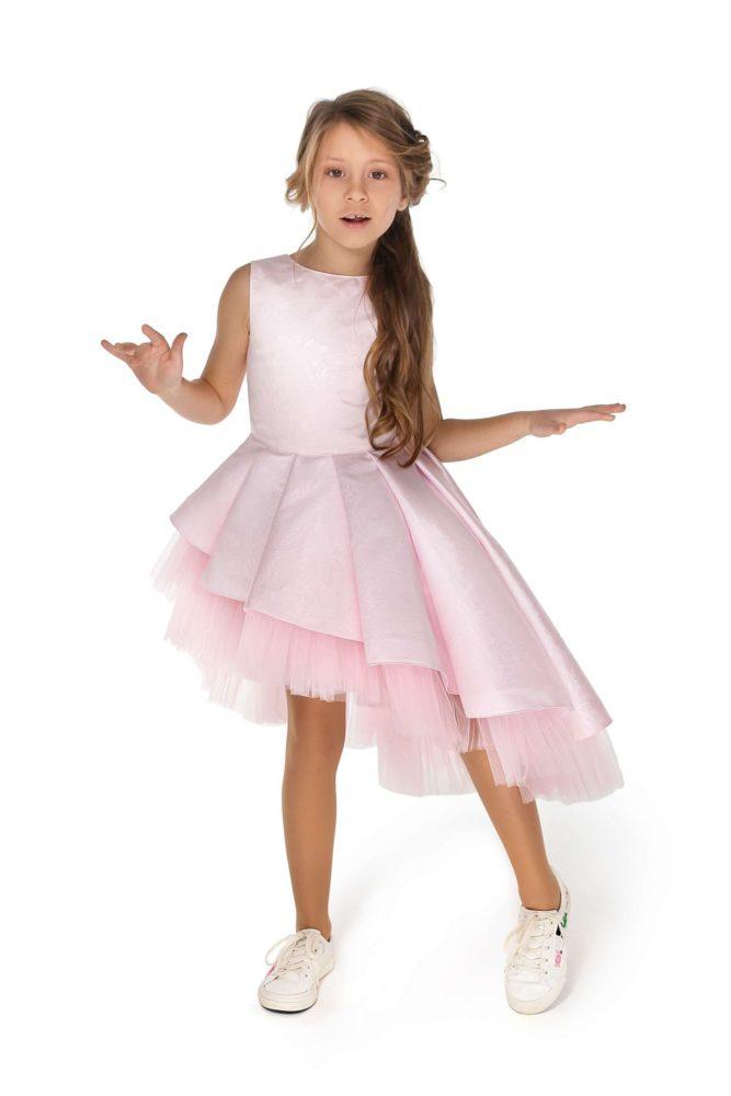 Світло рожеве святкове плаття на дівчинку