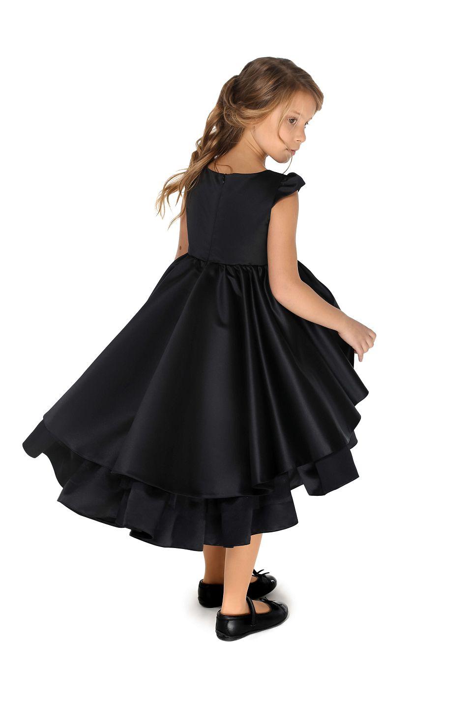 Нарядное платье на девочку черного цвета