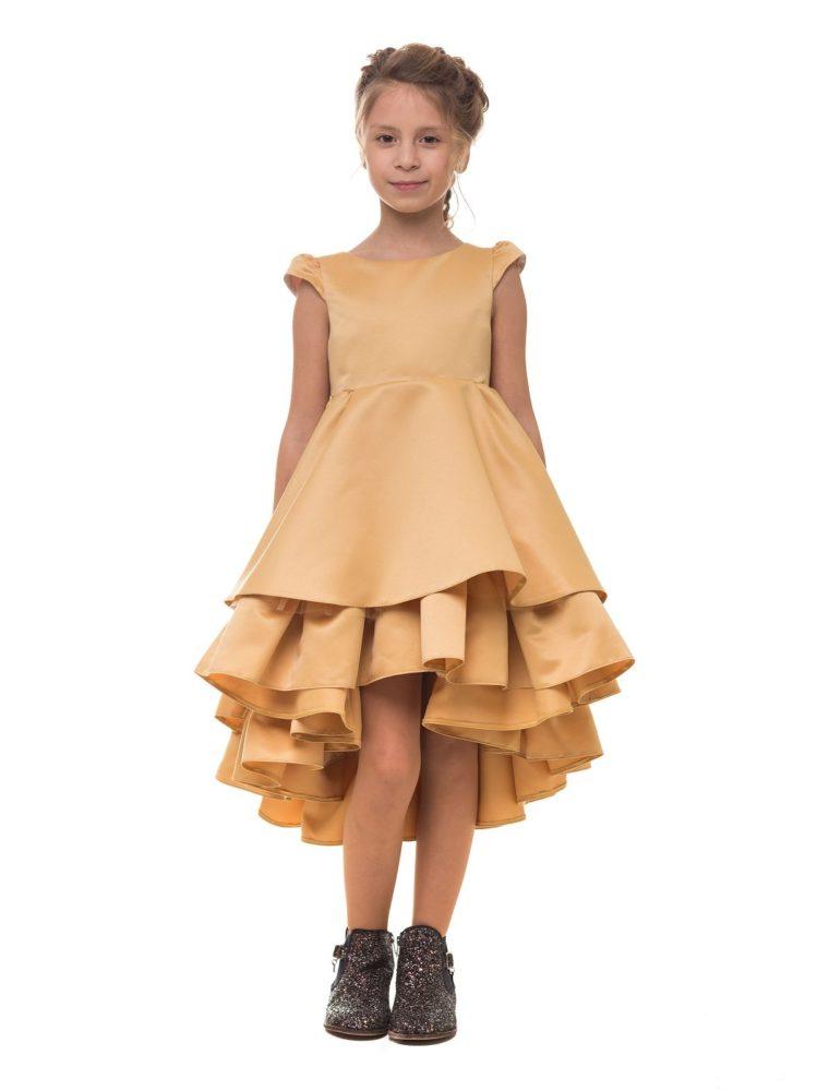 Нарядное платье на девочку золотистого цвета на девочку Malyna