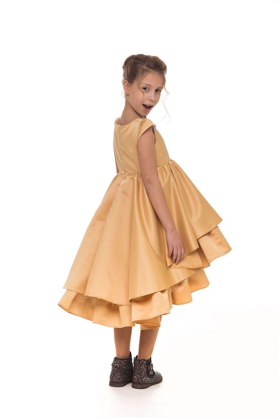 Очень красивое золотое платье на девочку от Malyna