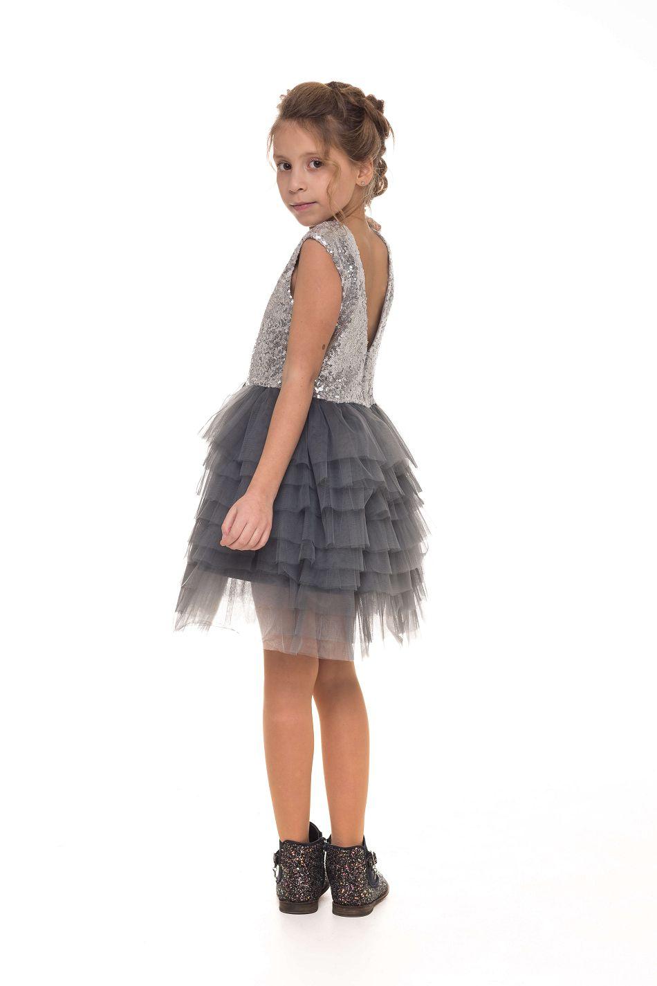Срібна сукня на дівчинку святкова