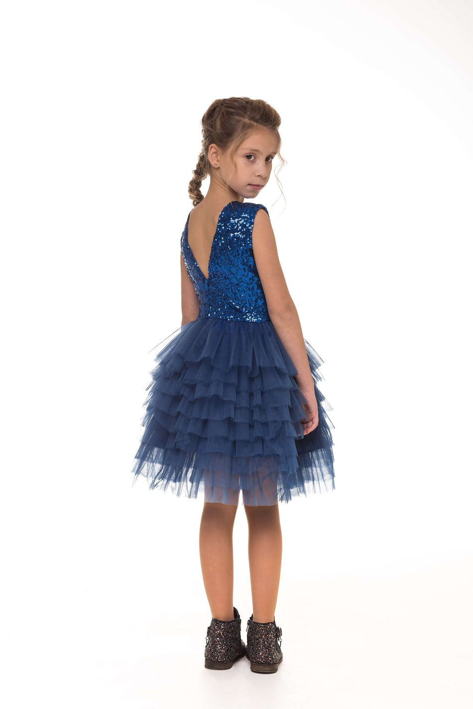 Синя сукня на дівчинку нарядна
