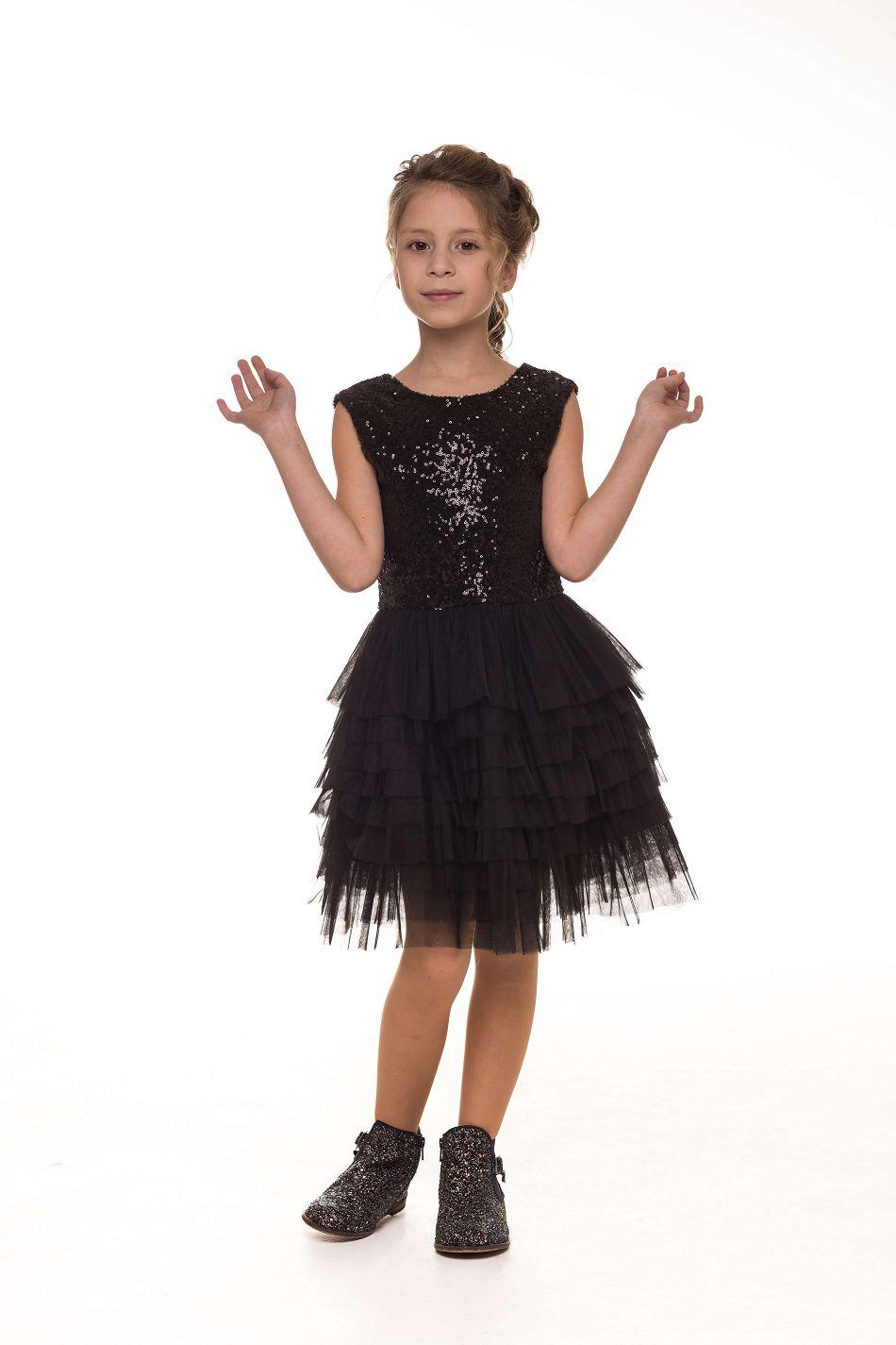 Красиве святкове плаття на дівчинку чорне