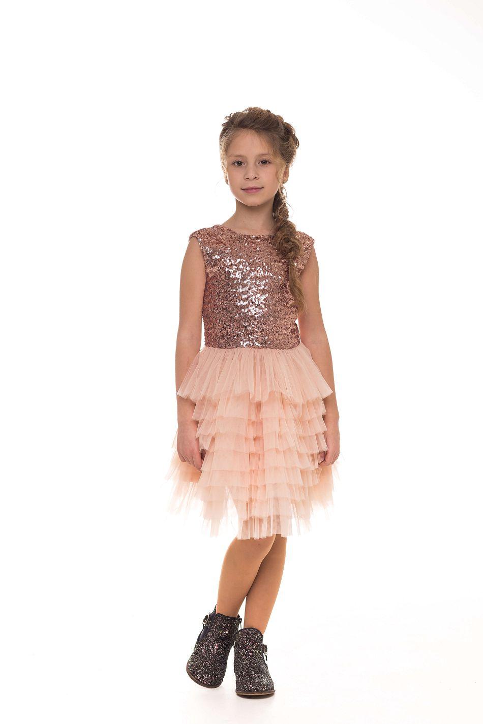Нарядные платья на девочек с блестками
