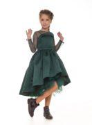 Красивое изумрудное платье на девочку от Malyna