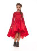 Святкова червона сукня на дівчинку від Malyna