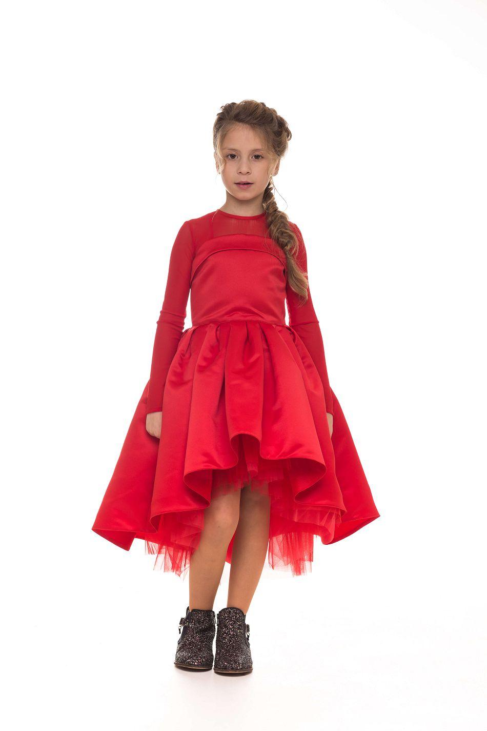 стильна червона сукня на дівчинку